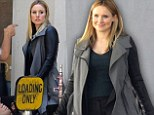 On the set: Kristen Bell smiled on the set of Veronica Mars on Wednesday during filming in Los Angeles