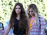 Friends reunited: Vanessa Hudgens and Ashley Tisdale - who both featured in the successful High School Musical series - were spotted together in Los Angeles on Wednesday