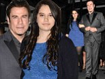 Proud parent: John Travolta locked arms with his daughter Ella Bleu as the two left the Corinthia Hotel London on Tuesday