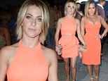 A pair of peaches! Julianne Hough and Adrienne Bailon's steal the show in lookalike dresses at celebrity bash