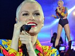 The main attraction! Jessie J heats up the Isle of MTV concert in skintight hotpants and a belly-baring crop top