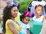 Fun for all the family! Mel B and daughters Angel and Madison sport Minnie Mouse ears as they get into the spirit of Disneyland
