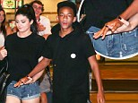 'Best friends'...or something more? Jaden Smith and Kylie Jenner leave a movie theatre hand-in-hand