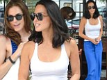 Blue beauties: Olivia Munn and Allison Williams both wore blue on Thursday for a lunch date in New York City
