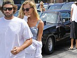 New couple: Brody Jenner and his girlfriend Bryana Holly visited a Mexican restaurant in Huntington Beach in his muscle car