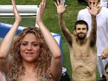 Shakira the cheerer is boyfriend Gerard Piqué's biggest fans as she claps along from the stands at Spain vs Italy match