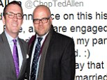 Getting hitched: Ted Allen on Wednesday announced his engagement to longtime partner Barry Rice, shown together in April at a New York City charity event