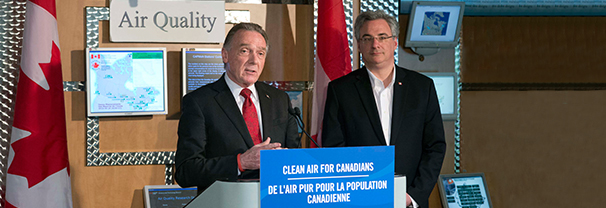 Minister Kent announces the new Canadian Ambient Air Quality Standards