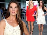 Brooke Shields dazzles in ivory lace dress as she joins riveting in red Daryl Hannah at The Hot Flashes premiere