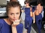 Helena Christensen wears flirty backless jumpsuit for Blackstones launch alongside her boyfriend Paul Banks