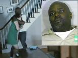 Caught: Shawn Custis has been arrested after a nanny cam caught a home intruder beating a woman in front of her children