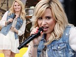 The show goes on for brave Demi Lovato as she debuts new song on Good Morning America stage after estranged father's death