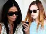 Just what the doctor ordered! Demi Moore and Rumer Willis look relaxed as they return from New Mexico bonding holiday