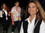 'My date last night': Maria Shriver is escorted by her strapping son Christopher Schwarzenegger and her two daughters to Beyoncé concert in Los Angeles