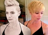 Reaching new heights! Jaime Pressly chops her bob even shorter and forms into a faux-hawk