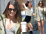 Hitting a thigh note! Lea Michele shows off her lean legs in cut-off shorts as she heads to Glee cast photo shoot