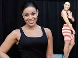 Slim in stripes! Jordin Sparks shows off her stunning figure in a curvy mini-skirt as she holds on tight to boyfriend Jason Derulo at the BET Experience concert