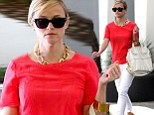 She means business! Reese Witherspoon cuts an elegant figure in fitted white trousers as she heads to a meeting