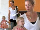 Mommy time! Christina Applegate steps out with her happy little toddler after wrapping on Anchorman 2
