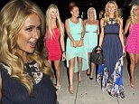In the mood for spending? Paris Hilton treats her pretty French pals to a Hollywood shopping spree