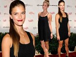 Not much of a wardrobe? Nina Agdal dons two nearly identical LBDS in one day for Sports Illustrated swimsuit event