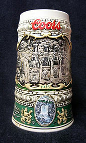 1990 COORS Stein Commemorating 1935 Print Advertisement