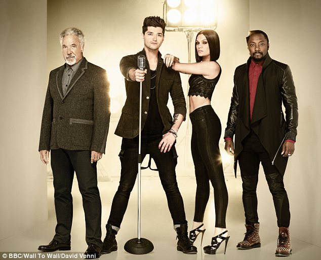 Team Jessie: The singer is currently appearing on The Voice alongside Will.i.am, Danny O'Donoghue and Tom Jones
