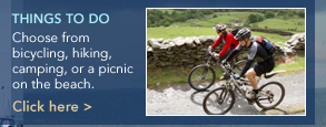 Things To Do, Choose from bicycling, hiking, camping, or a picnic on the beach. Click here >