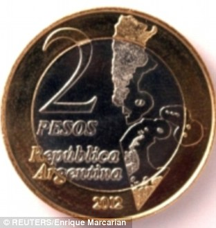 Argentina has unveiled a coin to commemorate the 30th anniversary of its invasion of the Falklands