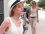 Amber Heard hits up Hollywood flea market in see-through skirt and lace camisole after trip away with boyfriend Johnny Depp
