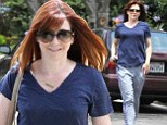 Time for bed? Alyson Hannigan ditches jeans for her pajama pants