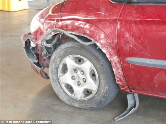 Bodywork: The front bumper of the minivan had to be removed to get the kitten out