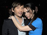 Everybody loves Ken: Victoria Beckham with Mr Paves in February and right, the hairstylist with Eva Longoria in May