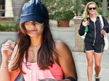 Fitness fanatics: Reese Witherspoon, left, and Vanessa Hudgens, right, were seen hitting the gyms in California on Wednesday