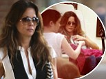 A chip off the old block! Brooke Burke-Charvet and daughter Heaven Rain get matching manicures in Malibu