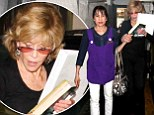No pain, no gain: Jane Fonda needs a helping hand after a grueling session at the nail salon