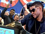 Love in this financial club: Usher turns Wolf of Wall Street ringing the closing bell at the New York Stock Exchange