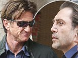 Good friends: Sean Penn and Javier Bardem have been getting along well on the set of The Gunman in Barcelona