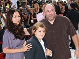 Family: James Gandolfini has left the bulk of his estate to his teenage son Michael, pictured with the actor and his wife Deborah Lin in September 2011. The inheritance includes properties