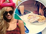 How to eat fastfood... Beyoncé style: Queen B enjoys In-N-Out burger... with a flute of champagne