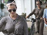 Katy Perry swaps cycling for walking during an afternoon in East Hampton