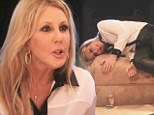 'It hurts': Vicki Gunvalson asked questions on Monday night's episode of The Real Housewives Of Orange County about the porn star linked to her on-off boyfriend Brooks Ayers