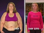 Rachel Cornellier dropped from 20.7 stone to 10.3 stone, loosing half her own body weight