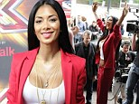 What split? Nicole Scherzinger puts on a brave face with cheery display at X Factor auditions... but her slimmer frame hints at her heartbreak