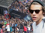 He's in demand! Harry Styles returns to chaotic crowds outside his hotel after meeting Gary Barlow to discuss writing songs together