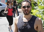 What a small world! Rose Mcgowan and Russell Brand bump into each other at yoga