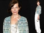 Tres jolie! Milla Jovovich resets the trend in stylish culottes at fashion show in Paris