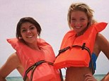 Injured: Alexis Fairchild (left) and Sidney Good have been injured on a vacation to Florida after their para-sail broke lose and slammed them into the side of a condominium, then a power line and then an SUV in a parking lot