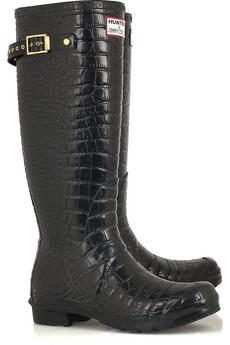Jimmy Choo�Crocodile-print Wellington boots