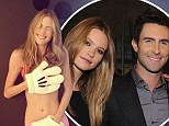 It's not hard to see what he saw in her! Adam Levine's model fiancée Behati Prinsloo strips to her underwear after pair announce engagement